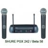 микрофон SHURE PGX242/BETA58A радиосистема 2 микрофона BETA 58. кейс.